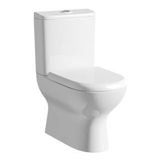 A typical close coupled toilet system