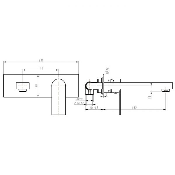 03 Series Basin Wall Plate Set