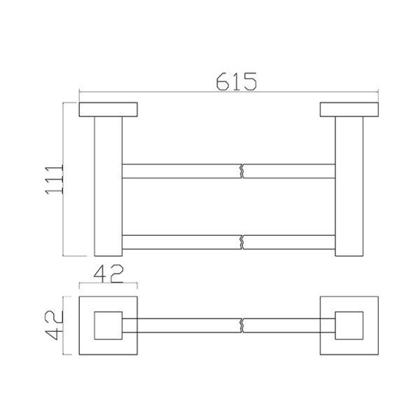 17 Series 600 Double Towel Rail