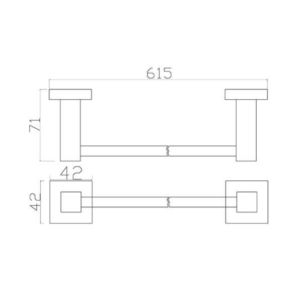 17 Series 600 Single Towel Rail