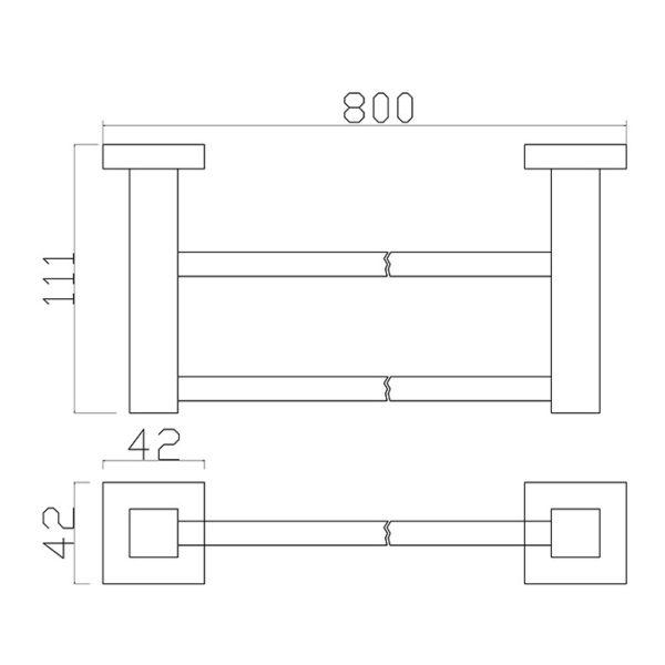 17 Series 800 Double Towel Rail