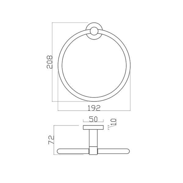 18 Series Towel Ring