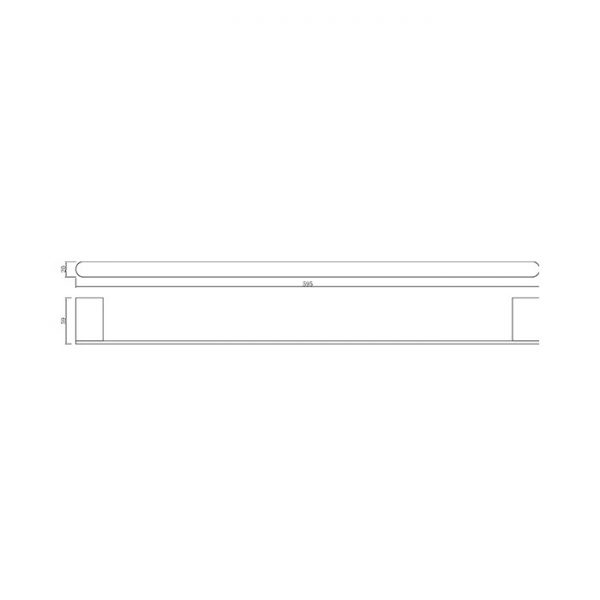 90 Series 600 Single Towel Rail