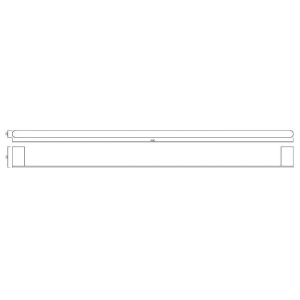 90 Series 800 Single Towel Rail