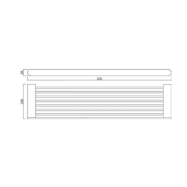 90 Series Metal Shower Shelf