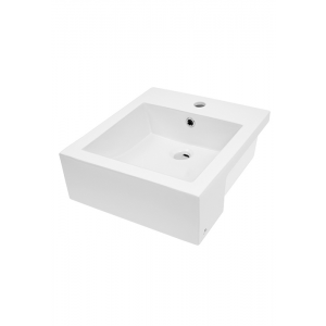 Cube 420 Semi-recessed Basin