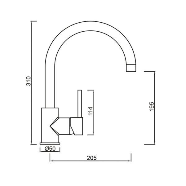 Perno Kitchen Sink Mixer