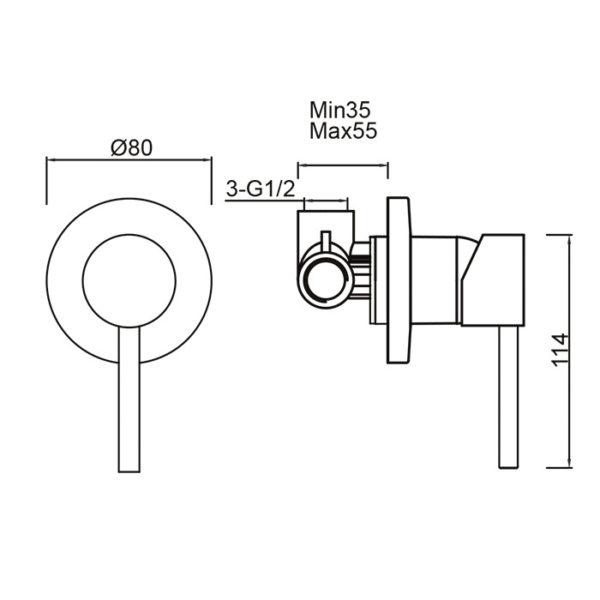Perno Shower Mixer