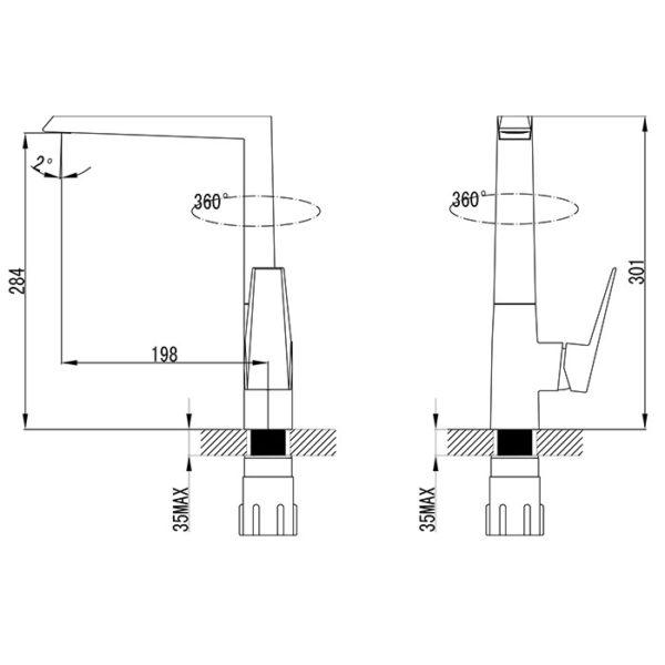 Vero Kitchen Sink Mixer
